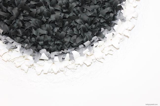 BLACK HOLE SUN - KELLYJOYLADD.COM; paper art; paper artist